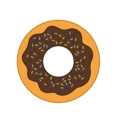 Donut dessert cute sweet food icon graphic vector