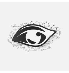 Drawing medical formulas eye vector