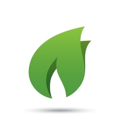 Eco icon green leaf Eco logo vector image