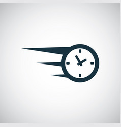 fast time icon for web and ui on white background vector image