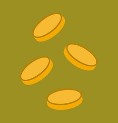 Flat icon on stylish background coins finance vector