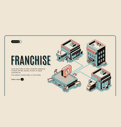 franchise web banner on retro colored background vector image