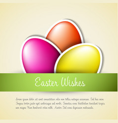 fresh easter card vector image