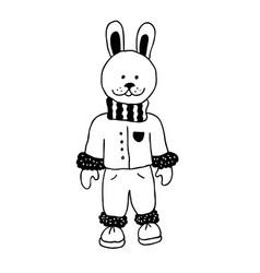 Funny rabbit nursery art minimalist scandinavian vector