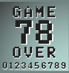 game over numbers vintage t-shirt stamp vector image