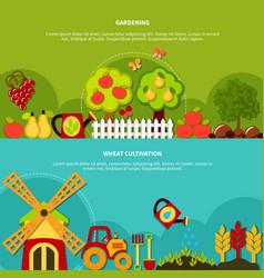 gardening plants banners set vector image