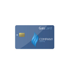 gas card template vector image