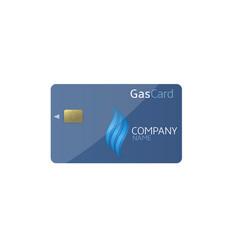 Gas card template vector