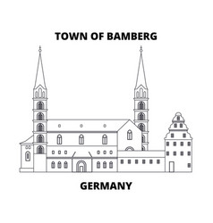 Germany town of bamberg line icon concept vector