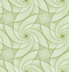 Green repeating fractal line pattern design vector