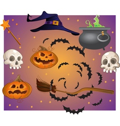 Halloween objects vector