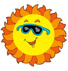 happy cartoon sun vector image