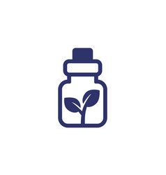 homeopathic medicine icon on white vector image