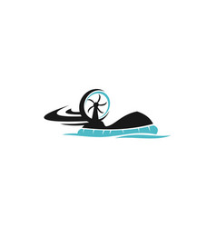 hovercraft logo design template vector image