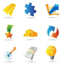 Icons for business symbols vector image