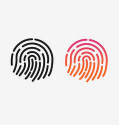 id app icon set fingerprint for vector image