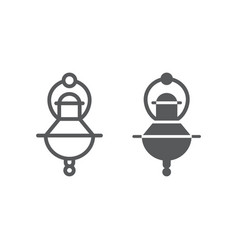 jewish incense line and glyph icon religion and vector image