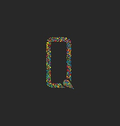 Letter Q of colorful circle design logo graphic vector