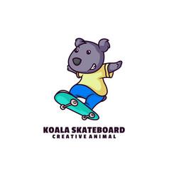logo koala mascot cartoon style vector image