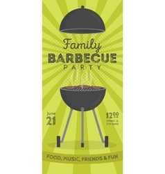 Lovely barbecue party invitation design vector