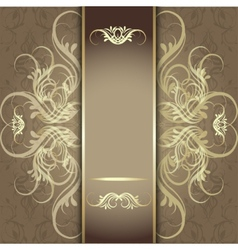 luxury background with beautiful pattern vector image