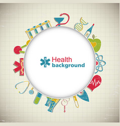 medical paper style background vector image