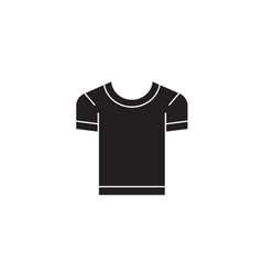 men t-shirt black concept icon men t-shirt vector image