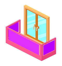 modern balcony icon isometric 3d style vector image vector image