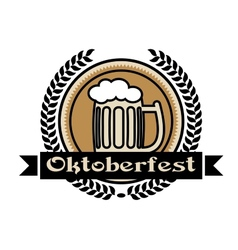 Oktoberfest beer icon or label vector image