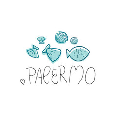 Palermo hand drawn vector