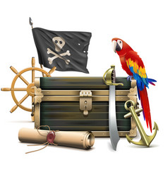 pirate accessories concept vector image
