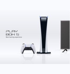 play console digital edition with gamepad vector image