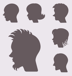profiles or cameo silhouettes vector image