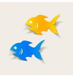 Realistic design element fish vector