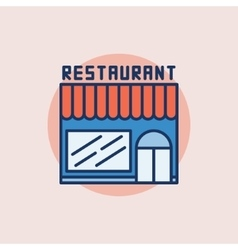 Restaurant building flat icon vector image