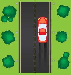 road with car vector image