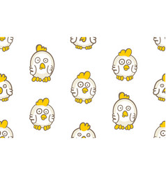 seamless pattern with chicks vector image