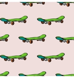 Seamless pattern with skate board vector