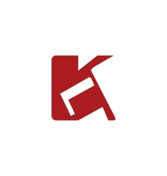 Sign of the letter K vector