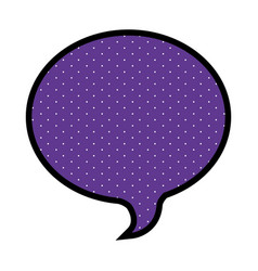 Silhouette of oval speech in purple background and vector