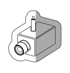 Silhouette video camera interior icon vector