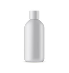 small cosmetic bottle mockup isolated on white bac vector image