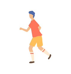 sportive boy runner isolated cartoon person sport vector image