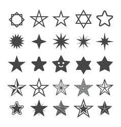 Star flat icon Sign Star vector image