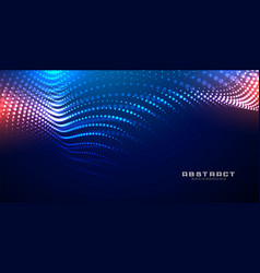 Technology glowing wave mesh particles background vector