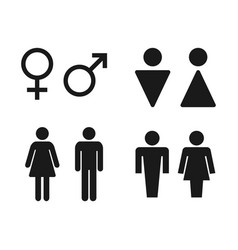 toilet signs set with man and women restroom vector image