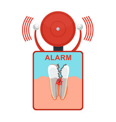 Tooth damaged alarm vector