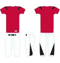 Touchdown american football jersey vector