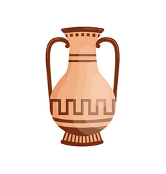 traditional greek antique vase with handles vector image