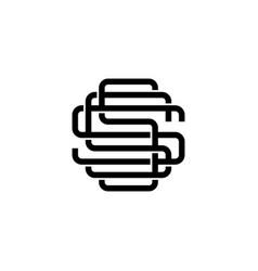 triple s monogram sss letter hipster lettermark vector image